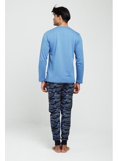 U.S. Polo Assn. Pijama Takım İndigo